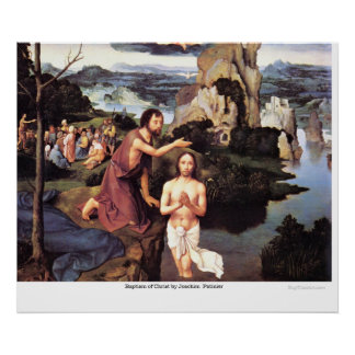 Baptism of Christ by Joachim Patinier Poster