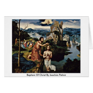 Baptism Of Christ By Joachim Patinir Cards