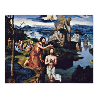Baptism Of Christ By Patinir Joachim (Best Quality Invitation