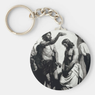 Baptism of Christ. circa 1879 Basic Round Button Key Ring