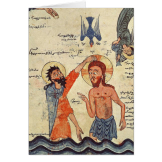 Baptism of Christ, from a Gospel Card
