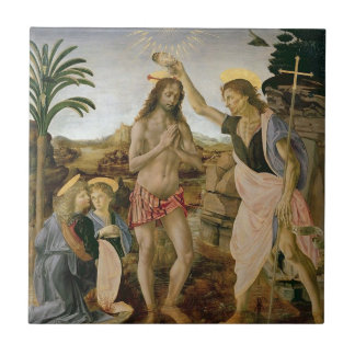 Baptism of Christ Small Square Tile