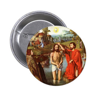 Baptism of Jesus painted by Masters 6 Cm Round Badge