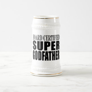 Baptism Parties : Board Certified Super Godfather Beer Steins