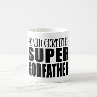 Baptism Parties : Board Certified Super Godfather Basic White Mug