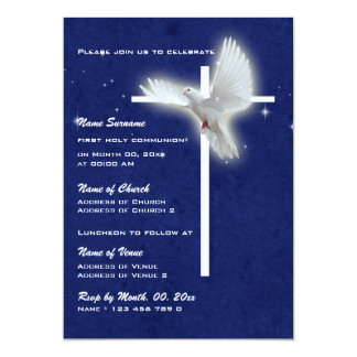 Baptism religious communion confirmation dove card