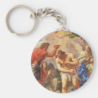Baptism scene in San Pietro basilica, Vatican Key Ring