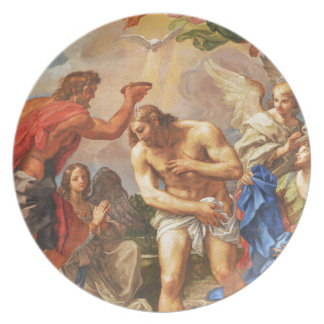 Baptism scene in San Pietro basilica, Vatican Plate