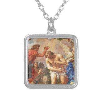 Baptism scene in San Pietro basilica, Vatican Silver Plated Necklace