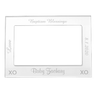 Baptism Silver Photo Frame