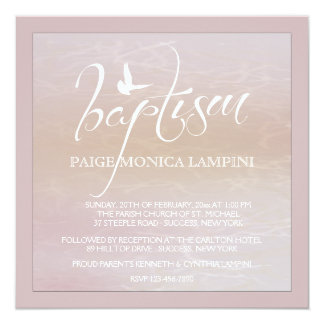 Baptism Word With Dove Invitation