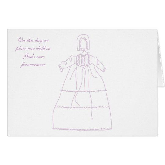 Baptismal Gown Invitation
