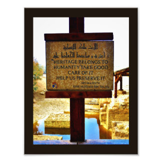 Baptismal Site Sign Art Photo