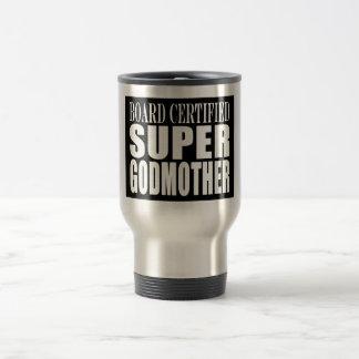 Baptisms Birthdays Christmas : Super Godmother Stainless Steel Travel Mug