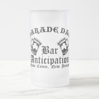 Bar-A Parade Day Frosted Glass Beer Mug