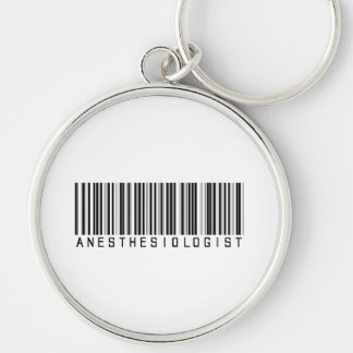 BAR ANESTHESIOLOGIST LIGHT Silver-Colored ROUND KEY RING
