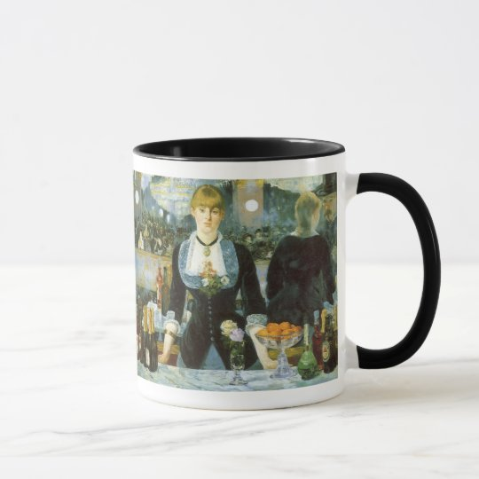 Bar at the Folies Bergere by Manet, Vintage Art Mug