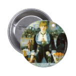 Bar at the Folies-Bergere, Manet, Vintage Fine Art Pinback Buttons