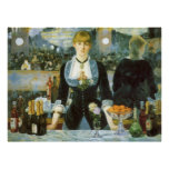 Bar at the Folies-Bergere, Manet, Vintage Fine Art Poster