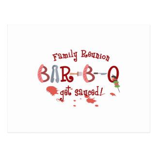BAR B Q FAMILY REUNION POSTCARD