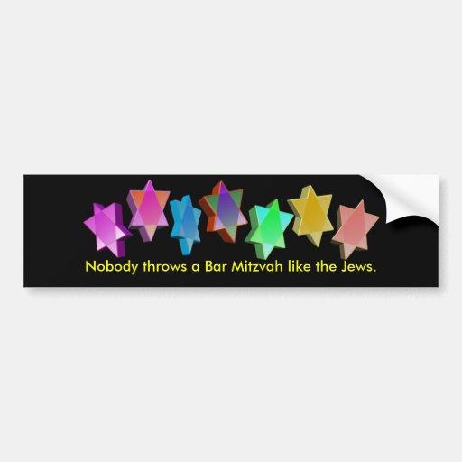 Bar/Bat Mitzvah Bumper Stickers