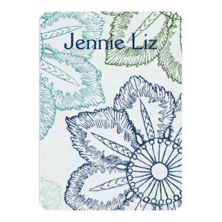 bar bat mitzvah Florals INVITATIONS