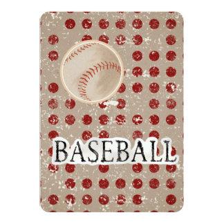 Bar Bat Mitzvah Invitation Baseball Theme