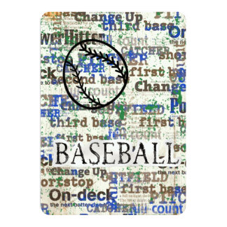 Bar Bat Mitzvah Invitation Baseball Theme