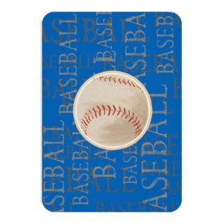 Bar Bat Mitzvah RSVP Card Baseball Theme 9 Cm X 13 Cm Invitation Card