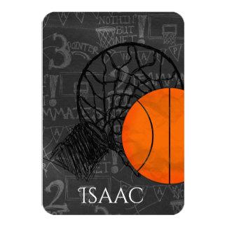 Bar Bat Mitzvah RSVP Card Basketball Theme