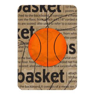 Bar Bat Mitzvah RSVP Card Basketball Theme 9 Cm X 13 Cm Invitation Card