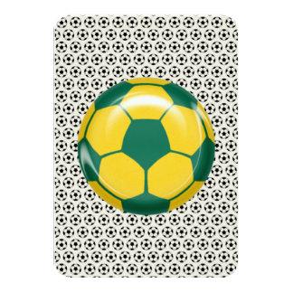 Bar Bat Mitzvah RSVP Card Soccer Theme 9 Cm X 13 Cm Invitation Card