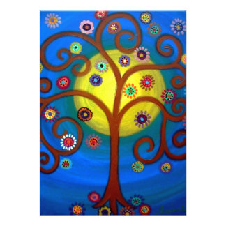 bar bat mitzvah TREE OF LIFE INVITATIONS Card