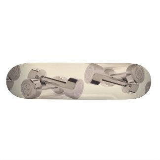 Bar bells for fitness workout skate board