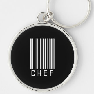 BAR CHEF DARK Silver-Colored ROUND KEY RING