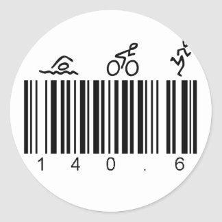 Bar Code 140.6 Classic Round Sticker
