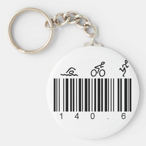Bar Code 140.6 Key Chain