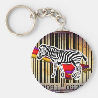 Bar Code Art Design Vector Fun Color Basic Round Button Key Ring