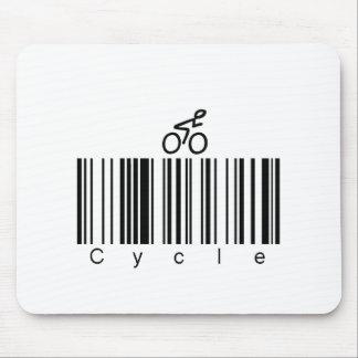 Bar Code Cycle Mouse Pad