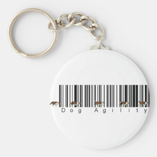 Bar Code Dog Agility weave Keychain