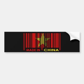 Bar Code Flag Colors CHINA Dark Design Bumper Stickers