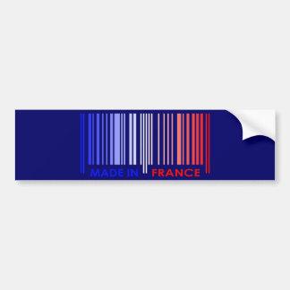 Bar Code Flag Colors FRANCE Design Bumper Stickers