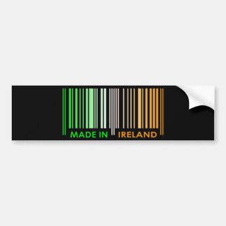 Bar Code Flag Colors IRELAND Dark Design Bumper Sticker