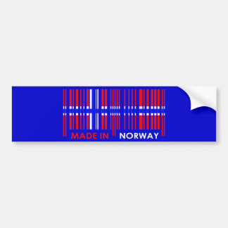Bar Code Flag Colors NORWAY Design Bumper Sticker