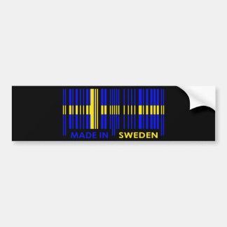 Bar Code Flag Colors SWEDEN Design Bumper Sticker