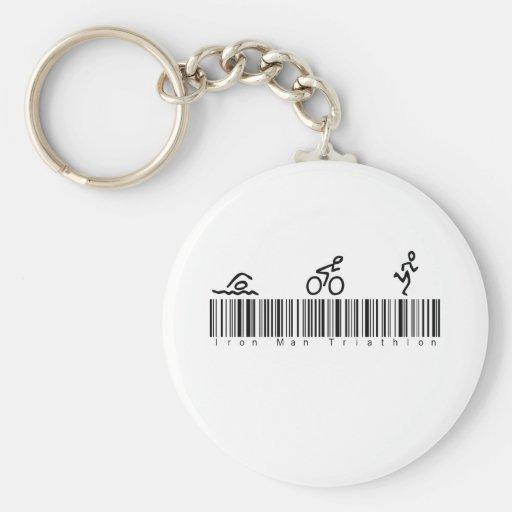Bar Code Iron Man Tri Key Chain
