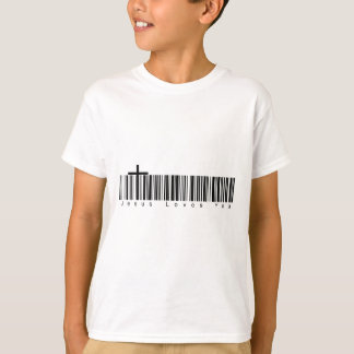 Bar Code Jesus Loves You T-Shirt