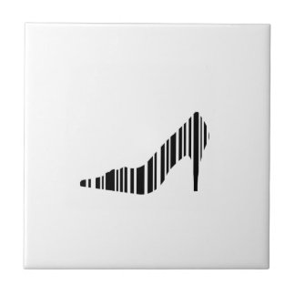 Bar code shoe ceramic tile