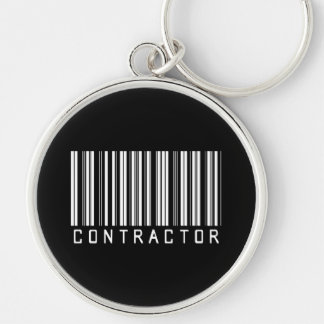 BAR CONTRACTOR DARK Silver-Colored ROUND KEY RING