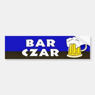 BAR CZAR CAR BUMPER STICKER